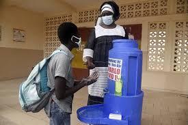 lavage de main ecole Senegal covid